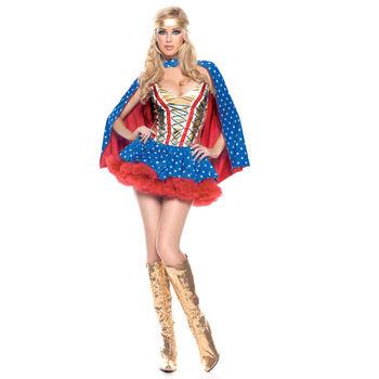 Сексуальная взрослых дамы герой девушка костюм DC комиксов чудо женщина супергерой косплей фантазия экипировка хэллоуин необычные ну вечеринку платье