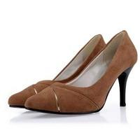 большой размер, высокое качество 34-43 указал носок моды лета насосы сексуальный тонкий высокий каблук Обувь мелкий рот скольжения на женщин обувь
