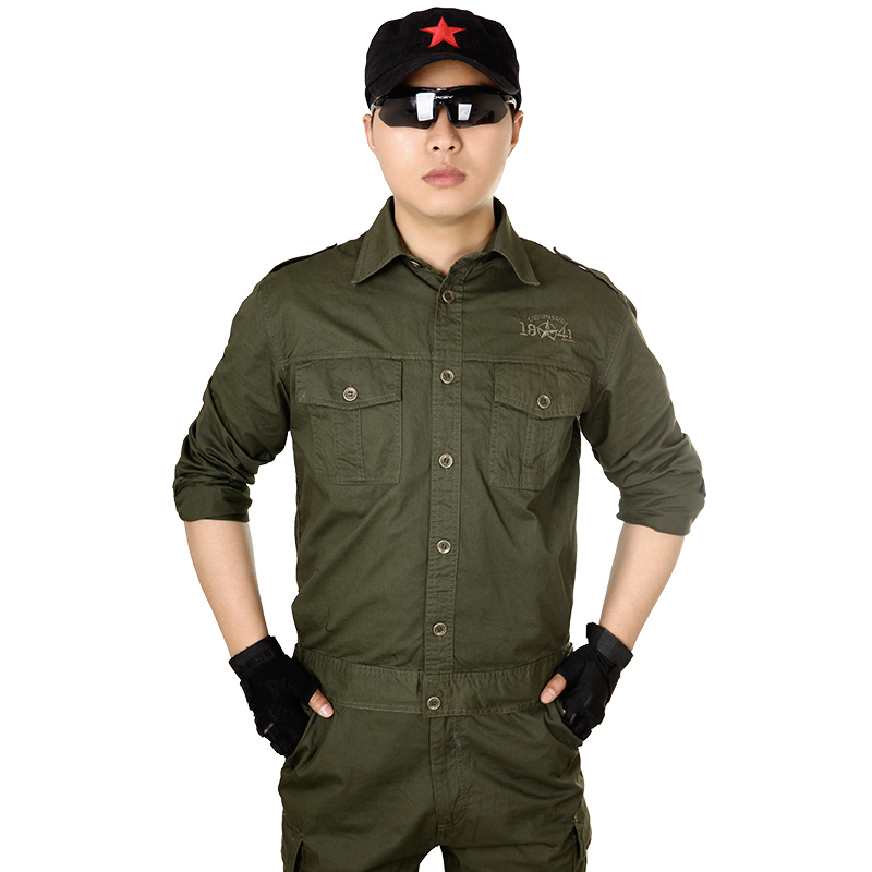 2015 New Military style army frock thin set special forces welding clothes jacket and pant sets S-4XL(China (Mainland))