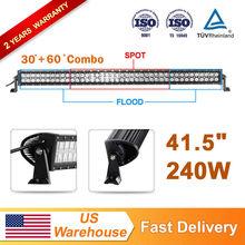 "41.5"" 240W Double Row LED Light Bar SPOT FLOOD COMBO Roof/Truck/Work Lamp(China (Mainland))"