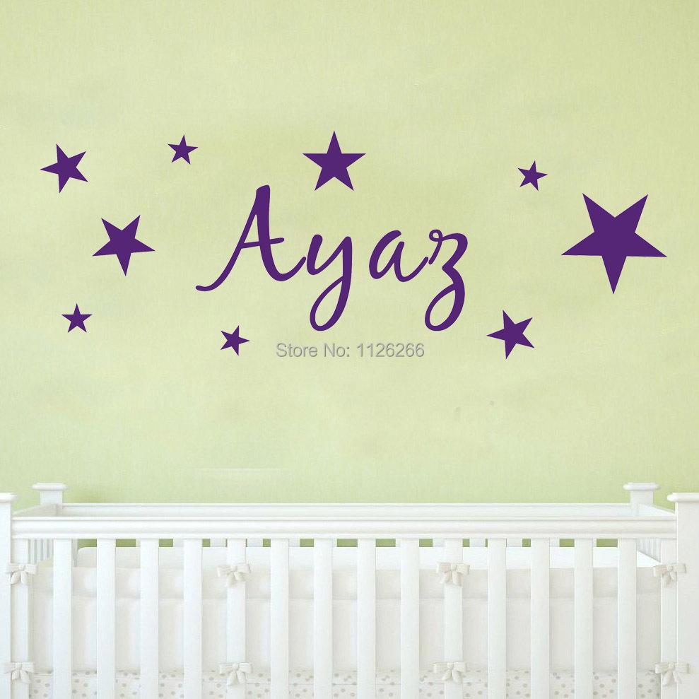 Comprar cliente hizo vinilo pared nombre for Vinilos pared aliexpress
