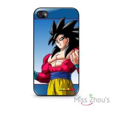 For iphone 4/4s 5/5s 5c SE 6/6s plus ipod touch 4/5/6 back skins mobile cellphone cases cover Dragon Ball Super Goku Japan Anime