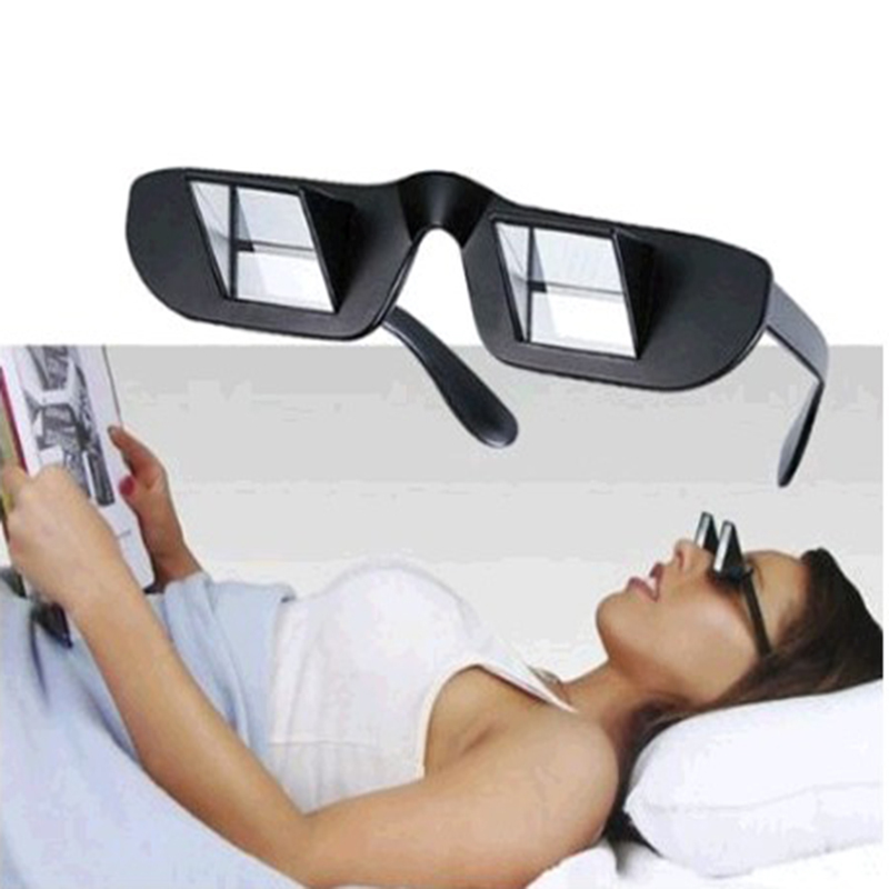 Lazy Creative Periscope Horizontal Reading TV Sit View Glasses On Bed Lie Down Prism Spectacles The Lazy Glasses(China (Mainland))