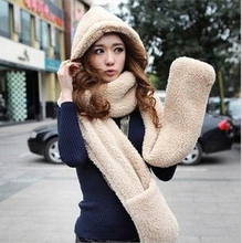 New 2015 Winter Brand Fashion Fur Hats For Women Hat Scarf Gloves Triad Hat And Scarf Set For Women Scarves Black White Bufanda(China (Mainland))