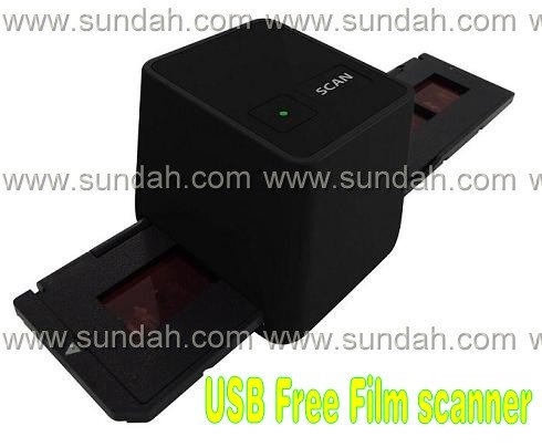 Free shipping!17.9 mega pixels Driver free USB film scanner/ negative scanner/converter,3600 dpi,black color(China (Mainland))