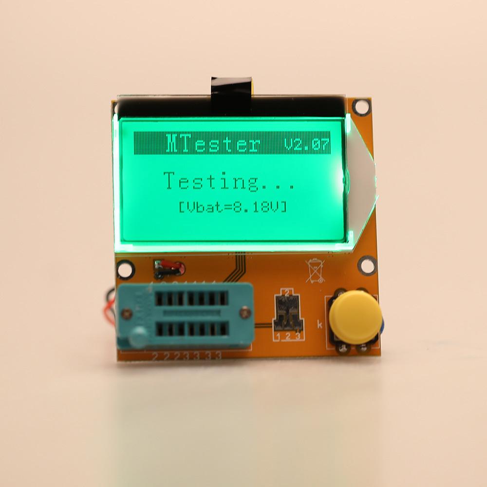 Multi-functional LCD Backlight Transistor Tester Diode Triode Capacitance ESR Meter Tester MOS PNP NPN LCR(China (Mainland))