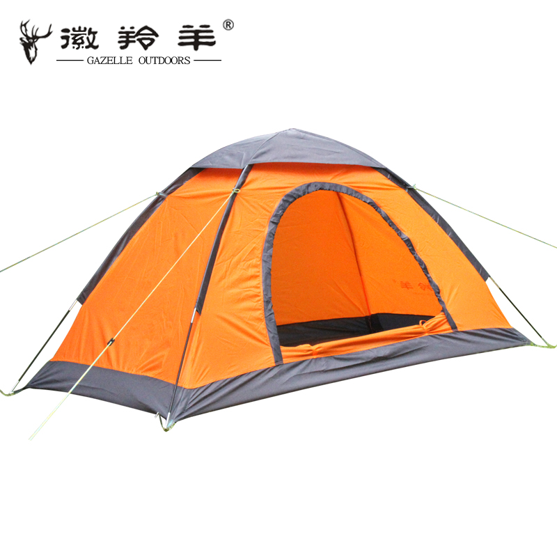 2014 time-limited rushed 1 - 2 person tent fiberglass blue beach tent outdoor camping outdoor single tier quality camping tent(China (Mainland))