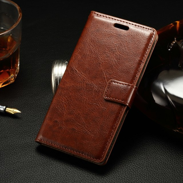Luxury Genuine Crazy horse leather PU wallet Flip Cover For LG Spirit 4G LTE H420 H422 H440N Phone Protect Shell Retro Case Bag(China (Mainland))