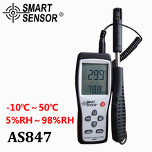 Buy Smart sensor AS847 split digital hygrometer humidity meter 2 1 K Type Thermocouple humidity gauge temperature humidity sensor for $43.23 in AliExpress store