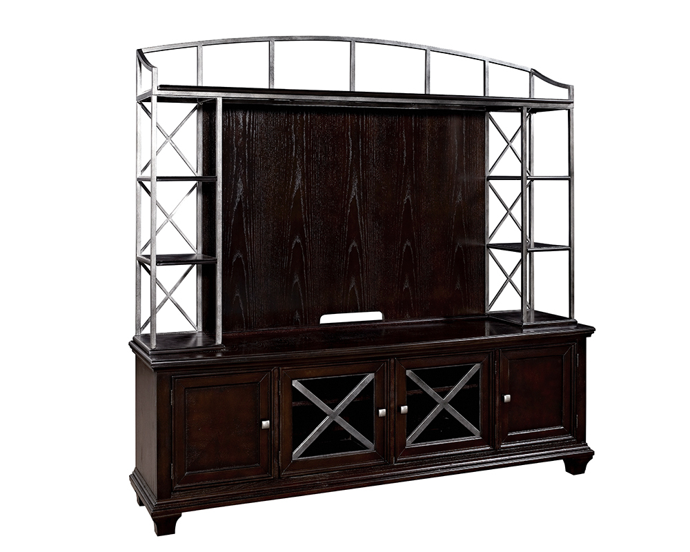 Md010 metal frame hutch media stand tv stand cabinet with for Wood and metal cabinets