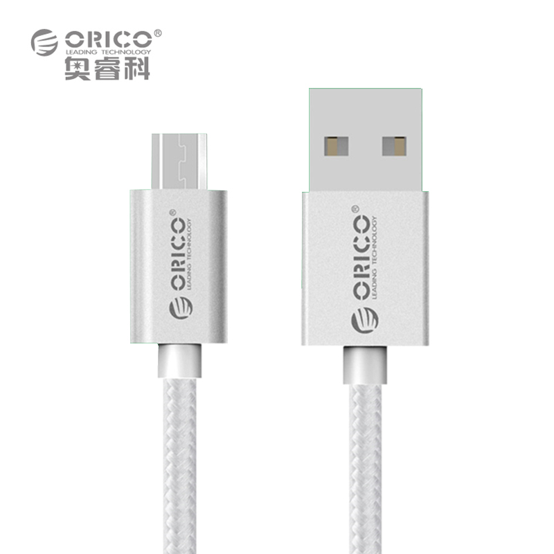 ORICO EDC-10 Colorful Micro USB Data Fast Charging Cable 1.0 Meter Support Max 2A Current - Silver(China (Mainland))