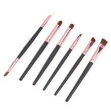 2015 NEW  6Pcs Face Makeup Brushes Cosmetic Set Eyeshadow Eyeliner Nose Smudge Tool