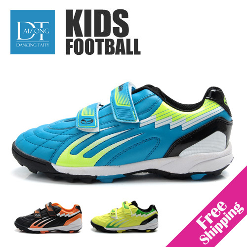 new pvc leather children soccer shoes outdoor casual boys