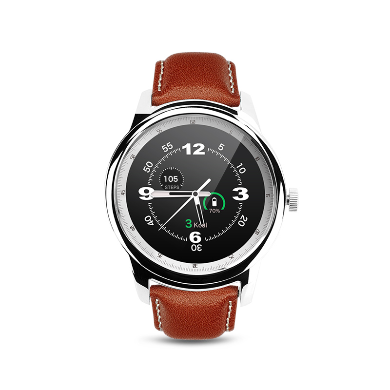 PARAGON Smartwatch DM365 Genuine Leather Sleep Monitor Thermometer Pedometer Anti-lost Selfie Waterproof Smart watch MOTO 360<br><br>Aliexpress