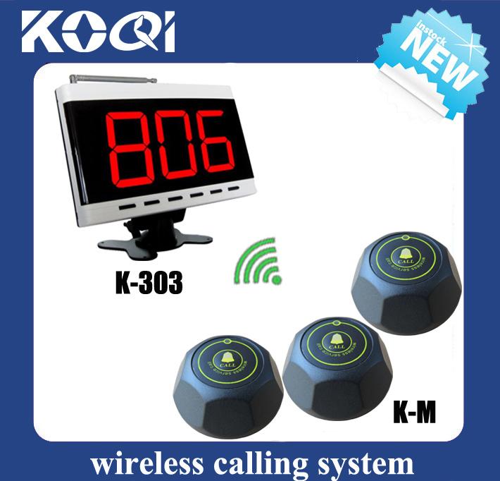2013Newest Wireless Nurse Call Emergency Service Call System 1pc K-303 LED Display and 5pcs Nurse call(China (Mainland))