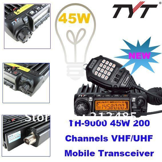 Mobile Radio TYT TH-9000 Single Band Max.Power 60W Hight Power 200 Channels (VHF:136-174MHz or UHF:400-470MHz for Options)