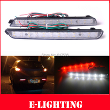 2X Clear Lens LED Rear Bumper Reflector Tail Brake Stop Light  for 04-09 Mazda3 Mazdaspeed3 Add braking Fog lights(China (Mainland))