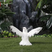Decoration White Dove Love Bird Small Feather Dove Spread WingsFor Weddibf Decoration