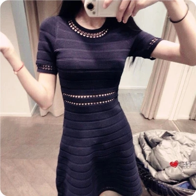 2015 spring and summer simple lines temperament hollow waist dress stitching Slim Sexy one-piece dressОдежда и ак�е��уары<br><br><br>Aliexpress