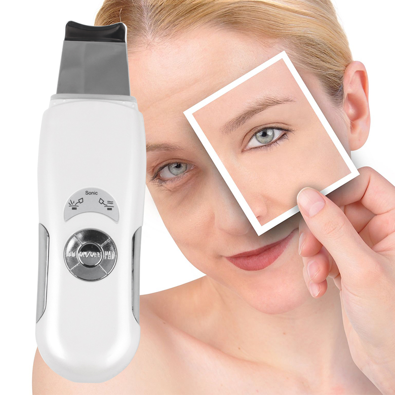 Deeply Ultrasonic Face Skin Cleaner Device Blackhead Removal Device Shovel Machine Face Exfoliator Deeply Clean The Skin(China (Mainland))