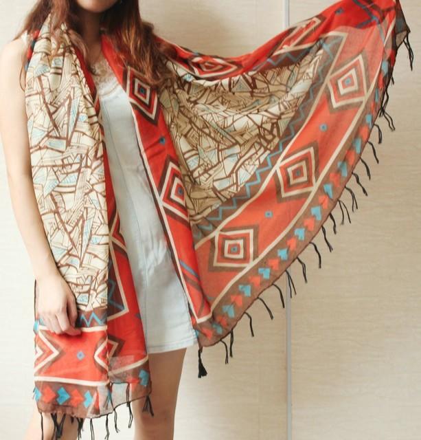 2016 новинка дизайнер осень зима шарф женщин женские взрослые длинные Slik шали и шарфы печатные шарфы бесплатная доставка