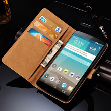Stand Wallet Genuine Leather Case For LG Optimus G3 D850 D855 Luxury Phone Bag Cover Skin Book Style With Card Slot New BOB