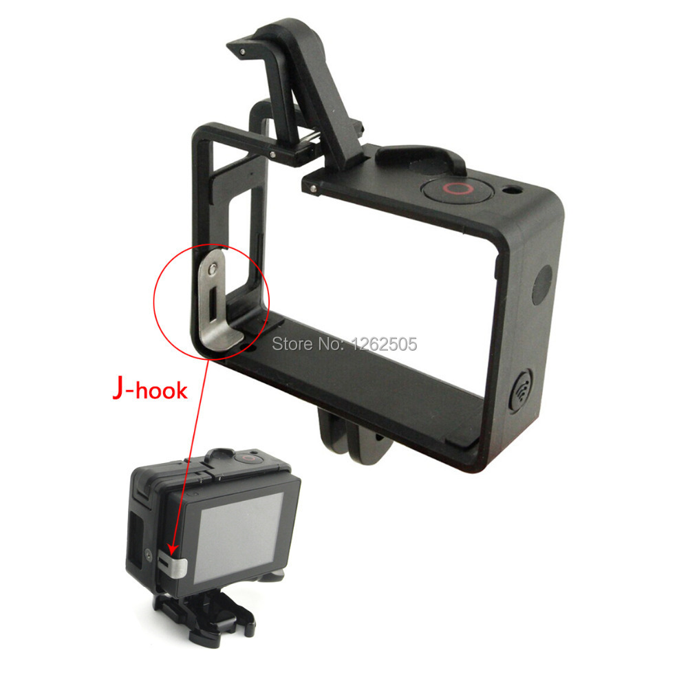 Gopro Accessories Portable Plastic Fixed Standard Frame Case Bacpac Installation Elongated Arm + Dust Plug for GoPro Hero 3+ / 3(China (Mainland))
