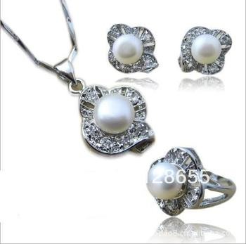 Pearl Jewelry 3 In 1 Top Selling Collection Free Shipping