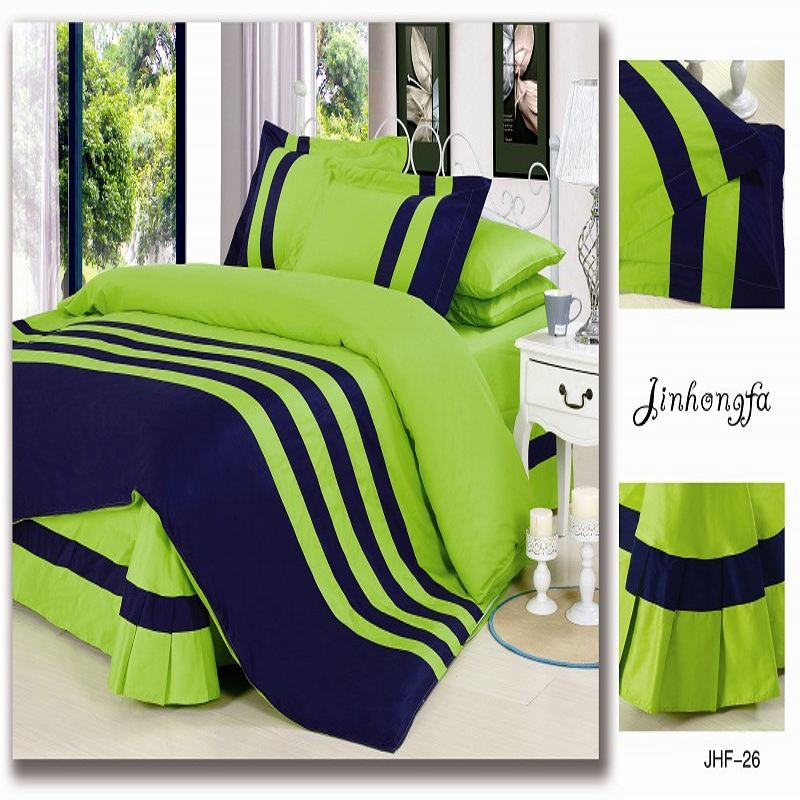 Buy Fashion Solid Color Bedding Set Queen King Size Green
