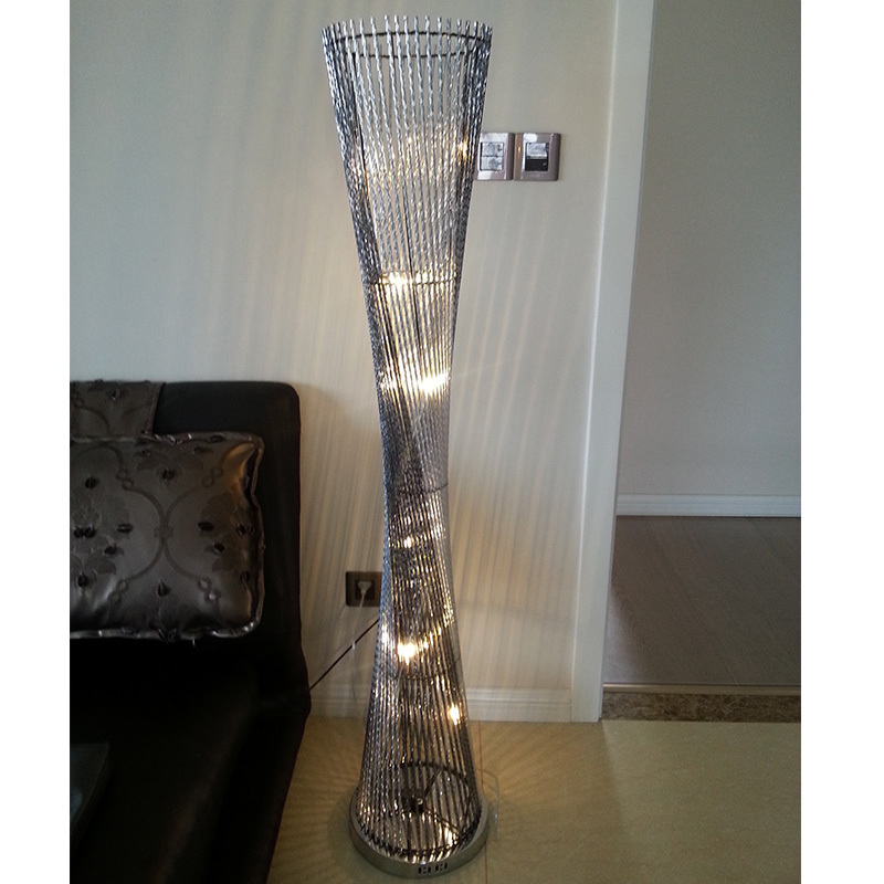 현대적인 패션 알루미늄 층 램프 창조적 인 허리의 잘룩 한 선 ...