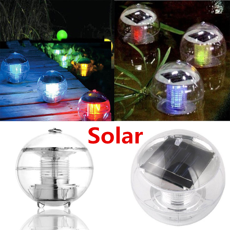 7 Colors Solar Power Waterproof Color Changing Led Floating Pool Light Garden Lamp In Solar