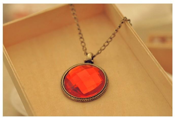 2015 Hot selling fashion red jewellery choker statement necklaces chunky pendants jewlery free shipping
