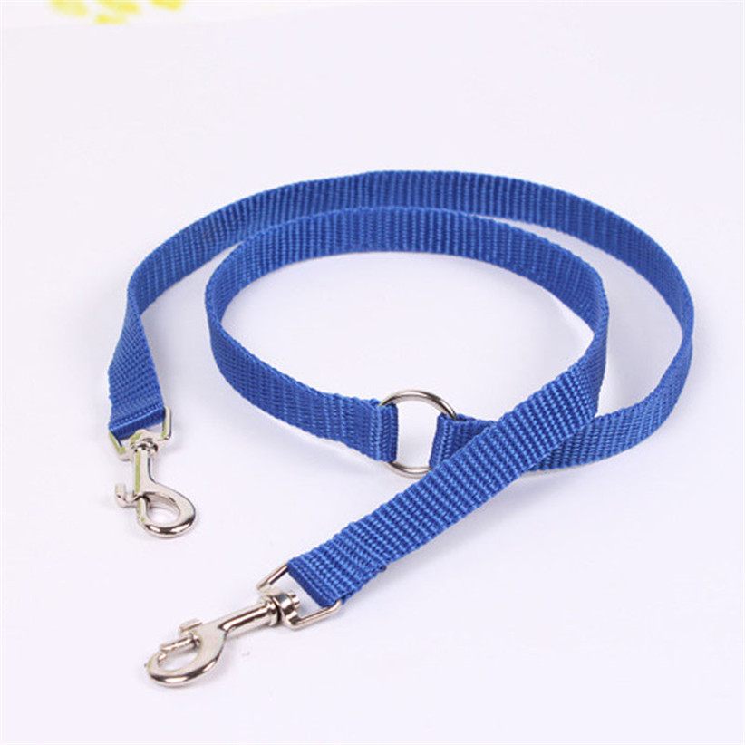 Newly Design App100cm Pet Dog Nylon Leash Double Sides Buckle Pet Outdoor Traveling Walking Products July31(China (Mainland))