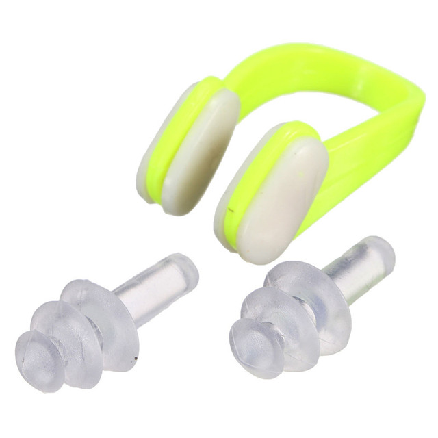 Swimming Nose Clips + 2 Ear Plugs Set