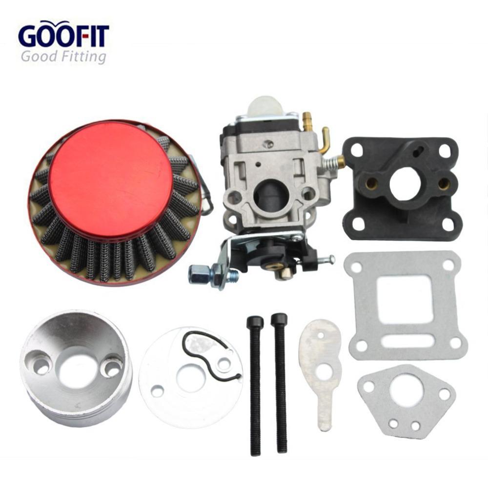 GOOFIT 15mm Carburetor Air Filter Carburettor Kit Carb r Stack 49cc Mini ATV Dirt Pocket Bike Racing motorcycle Group-77(China (Mainland))
