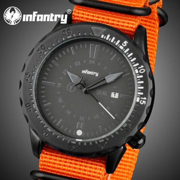 Canvas Strap Watch Watch Orange Canvas Strap