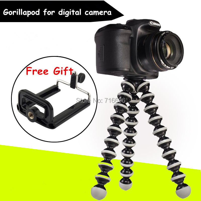 2015 Gorillapod Type Monopod Flexible Tripod Big Size Load-Bearing to 3KG Mini Tripods for Digital Camera + Phone Holder(China (Mainland))