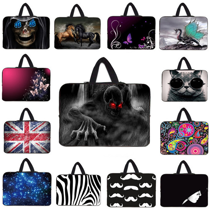 """Skull Face Laptop Notebook Bag For 17"""" 17.1"""" 17.3"""" 17.4"""" inch Mini PC Netbook Portable Computer Pouch Cover Case For Lenovo HP(China (Mainland))"""