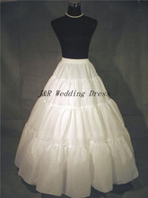 Free shipping high quality white natural sharp no hoop petticoat underskirt crinoline for dresses(China (Mainland))
