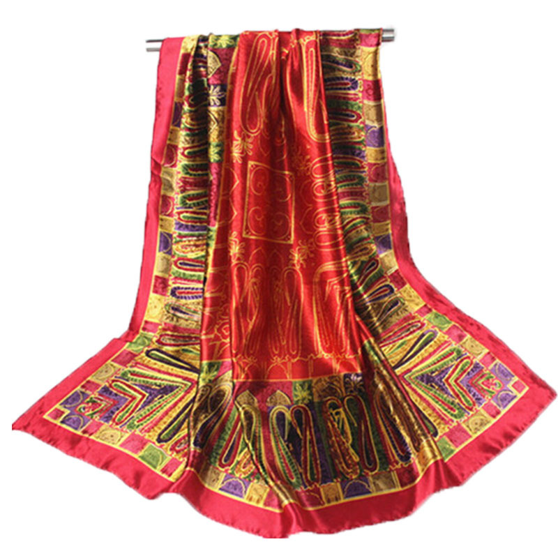 90*90cm Brand Women Scarf From India Fashion Floral Shawl Foulard Luxury Sunscreen Cape Georgette Silk Designer Scarf Muslim(China (Mainland))