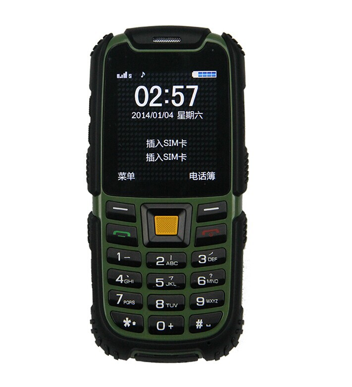 e dustproof shockproof S6 rugged phone gsm radio Small phone feature phone bluetooth ip68 waterproof outdoor phon(China (Mainland))