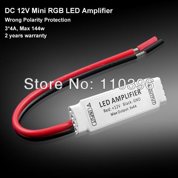 3528 5050 led strip rgb controller,mini rgb controller dc 12v 144w 4A 3channel,3 key manual switch control(China (Mainland))
