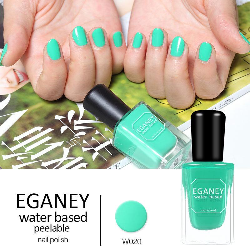 12PCS/LOT Peelable nail polish Quick-drying Magic Beauty Color EGANEY Nail Art Tools Water Based Nail Polish(China (Mainland))