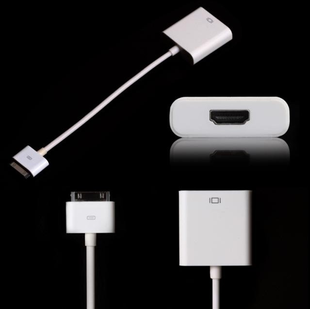 100pcs/lot*FOR ipad to HDMI 1080P Dock Connector to HDMI Adapter AV Cable HDTV TV HDMI Cable Adapter for iPhone 4 4S iPad 2 3(China (Mainland))