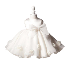 1 year old Baby Girl Dress Vintage Princess Big Bow Girls Lace Flower Dresses Events Kids Clothes Babies Baptism Birthday Dress(China (Mainland))