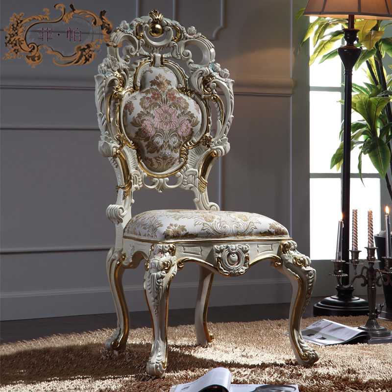 luxury italian style dining chairs solid wood hand carved
