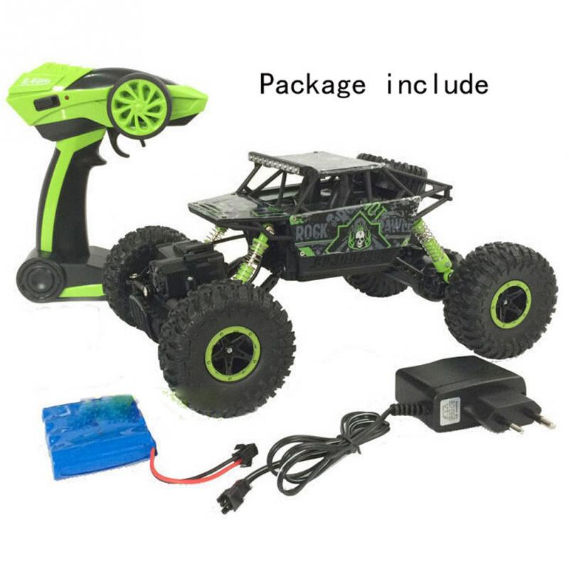 Big Tires Cars Remote Off Road Vehicle Rock Crawler Remote Control Car Double Motor Drive Toy Car with EU Plug #45(China (Mainland))