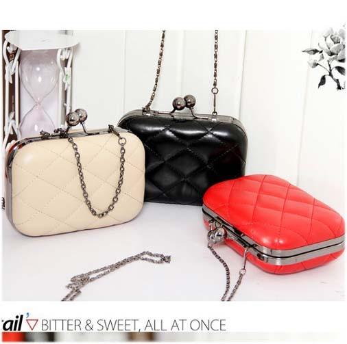 2014 New Hot  PromotionHotsale Fashion Women Purse Evening Lingge Chain Bags Small Wallet  Wholesale Price