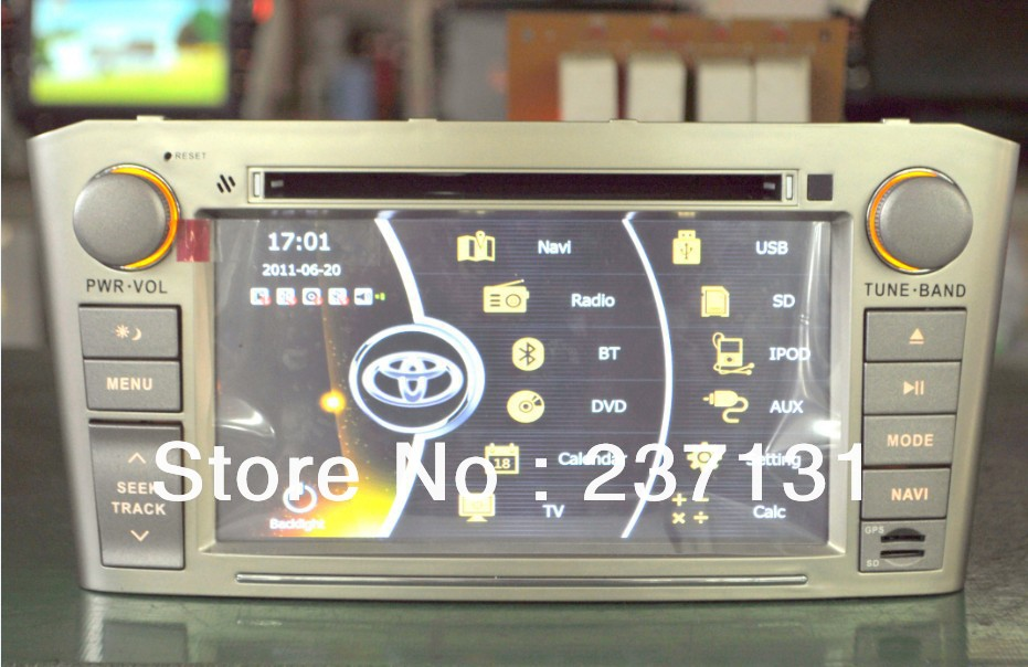 Toyota Avensis T25 car dvd player car multimedia autoradio gps navigation with Russian 3G IPOD TV(China (Mainland))