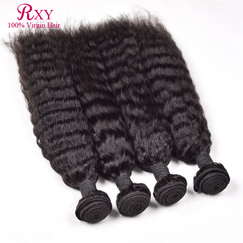 Kinky Straight Brazilian Virgin Hair Unprocessed Human Hair 6A Grade Kinky Straight Hair Bundles Human Hair Weave 4 Pcs/Lot